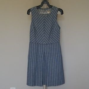 J. Crew Factory - Blue Stripe Dress